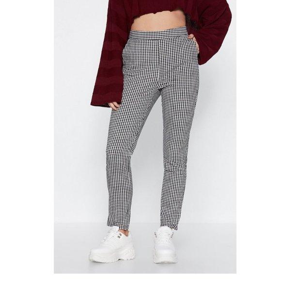 Nasty Gal Pants - NASTY GAL Make It Fair Gingham Pants NWOT